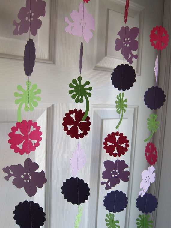 Paper Garland, Flower Garland, Spring Garland, Spring Decorations, Luau Party Decorations