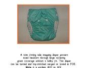 PDF Cloth Diaper Sewing Pattern - Rocket Bottoms Side Snapper (NB-LRG)