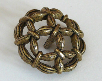 Brass Rope Button 1 inch