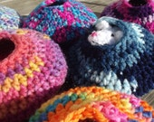 Handmade Crochet Rodent Cuddle House - Any Color - Any Size