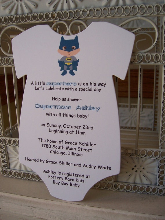 Superhero Baby Shower Invitation --- Custom Die Cut
