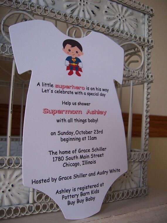 superhero baby shower invitation custom order for marybeth
