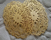 Pendant Filigree Gold Plated Brass (2) Wedding Victorian