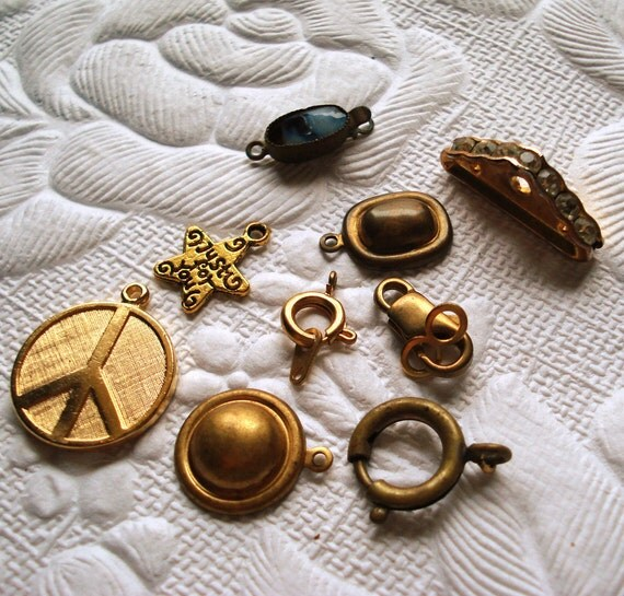 Findings Lot Goldtone Charm Clasp
