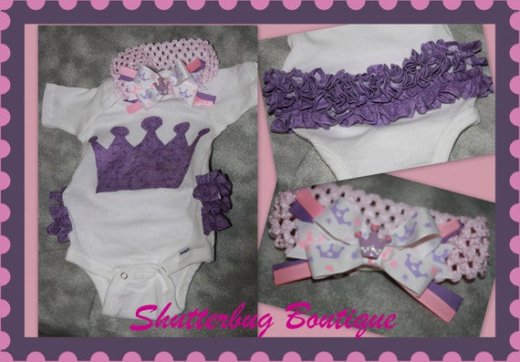 Ruffle Bum Onsie with matching Bow