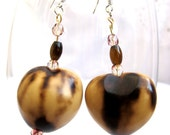 RESERVED FOR FRANCESCA - Big Bead Earrings- Hawaii light weight big beads dangle earrings