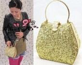 Vintage inspired - Golden glittle box purse, Golden Handbag evening handbag / wedding purse
