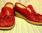 Vintage Red Granny SAS Shoes.
