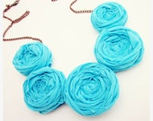 Rosette Necklace in Turquoise and Copper