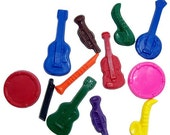 Musical Instrument Scribblers -Set of (12) 2nd Chance Crayons