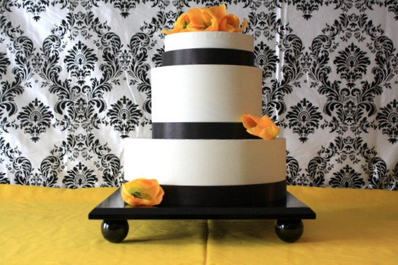 14 inch square wedding cake stand 14 inch square cake stand in black wedding by timberandstitch 10047