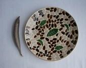 Mid Century Acorn Mosaic Tile Tray