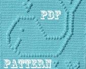 Crochet Pattern - Crochet Baby Security Blanket  - Baby Snuggle Blanket  - Happy Whales Blanket Pattern - Carseat or Stroller Blanket