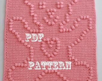 Crochet Pattern - Crochet Baby Security Blanket  - Baby Snuggle Blanket  - Teddy Bear Blanket Pattern - Car Seat or Stroller Blanket