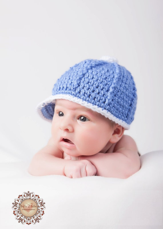 Items similar to Crochet Baby Hat - Baby Baseball Cap on Etsy