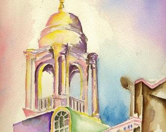 Cupola (University of Maryland)-- Original Watercolor