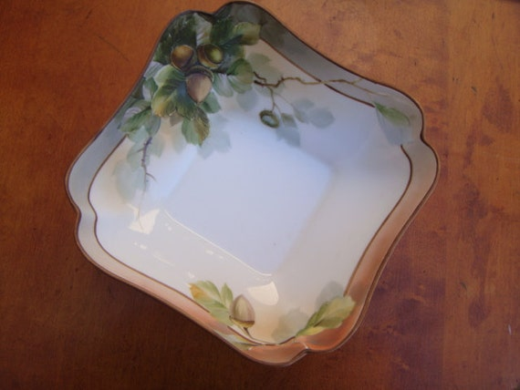 Items similar to Hand Painted Nippon China with Acorns ...
