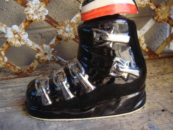 Ezra Brooks Ski Boot Whiskey Decanter