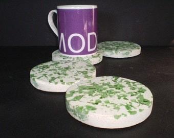 Concrete Coasters Concrete Home Decor Set of Drink Coasters OOAK Concrete Decor Gift Terrazzo Modern Concrete