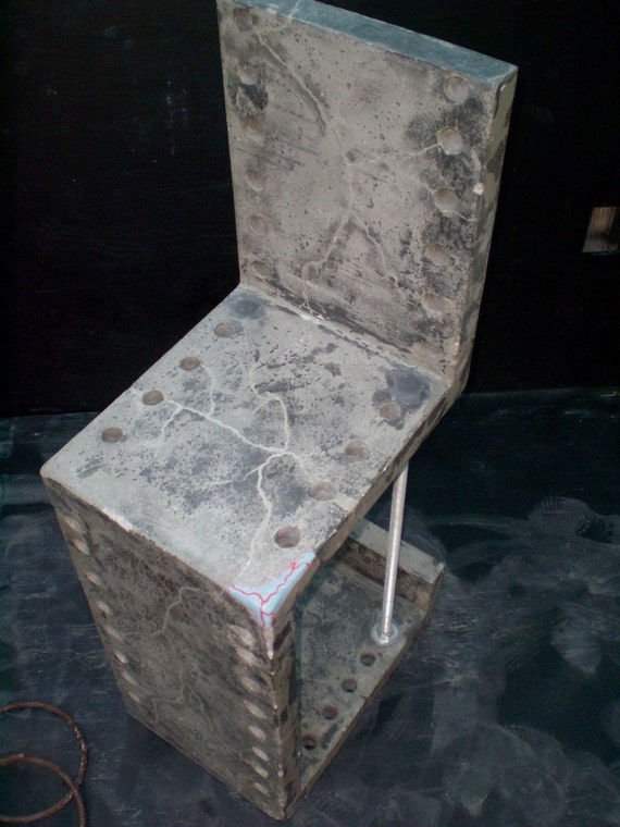 Frankenchair  -  industrial lightweight concrete bar stool / chair ultramodern  industrial chic  a la mode