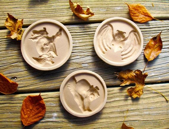 Halloween Stoneware Cookie Molds