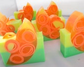 """Handmade glycerin soap scented in """"Citrus Splash""""... Glycerin soap with added HONEY.  This soap is sassy."""