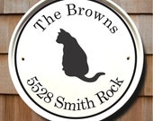 Cat House Plaque/Address Plaques/House Numbers Plaque/House Signs/Markers/Address Signs