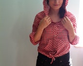 Vintage Red Riding Hood Crop Top Small/Medium