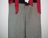 Diaper Stacker - Crimson and Houndstooth