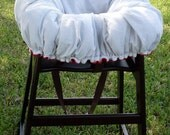 Cart Cover-Reversible White and Black- Polka Dots