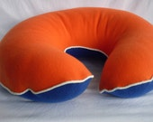 Boppy Cover - Blue and Orange with White Cording