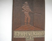 Vintage Year Book University of Manitoba Brown and Gold.......1941 Edition