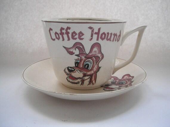 Coffee Hound Oversized Mug And Saucer