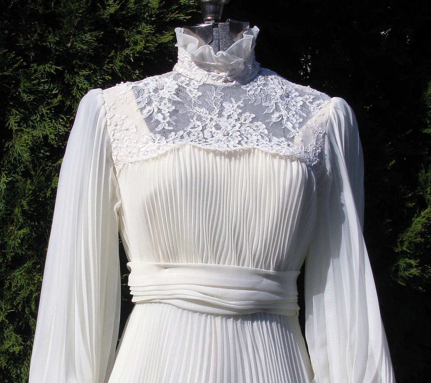 Reserved For Singkai Vintage 1970s Wedding Dress Victorian
