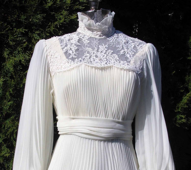 reserved for singkai Vintage 1970s Wedding Dress Victorian