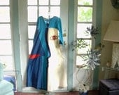 Unusual Vintage Crying Eye Embroidered and Appliqued Tiki Loungewear