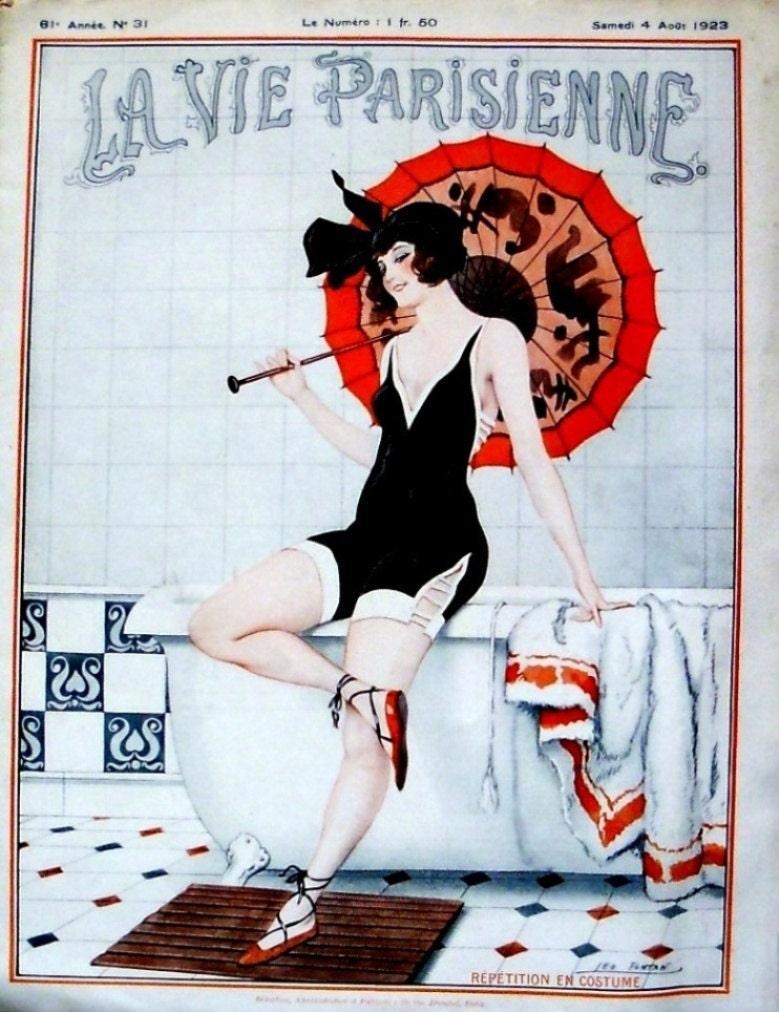 la vie parisienne 1919 and 1923 french art deco risque. Black Bedroom Furniture Sets. Home Design Ideas