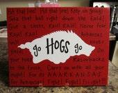 Arkansas Razorback Fight Song Canvas Painting