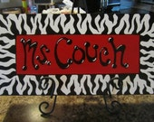 CUSTOM Hand-Painted Zebra Name Sign