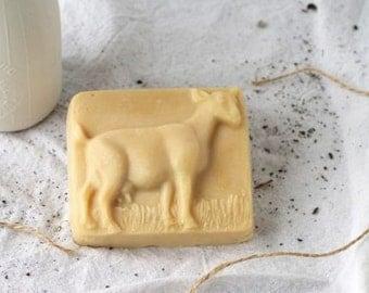 Organic Sweet Orange Soap in shape of a goat
