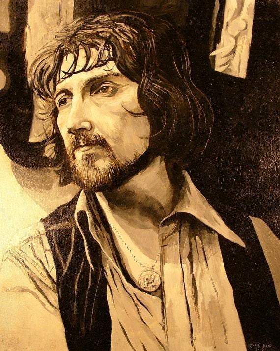 "Portrait of Waylon Jennings. Oil on Canvas. 16"" X 20"""