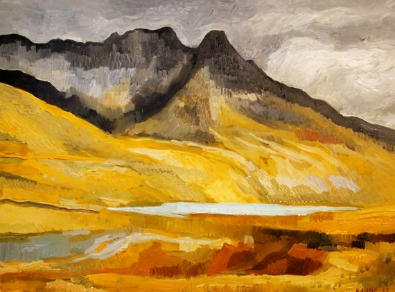 """Bolivia Mountains. Oil on Wood. 12"""" x 16"""" Ready to Hang."""