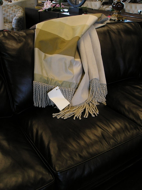 Silk Throw Blanket, One of a Kind, Hand Made in North Carolina.