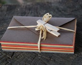 Mini envelopes in earth tones - set of 12