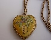 Antique Heart Locket - 12K Gold Filled - Detailed on front - contains old photo