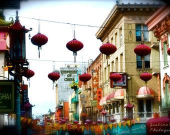 SALE 16x20 Chinatown, San Francisco Poster Print