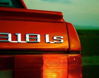 SALE- 8x10 Red BMW 318is Classic Bimmer Collectible Memorabilia Car Art Photograph