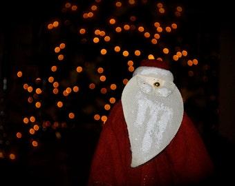 SALE - 16x20 Santa & Christmas Tree Photo - Ol' Saint Nick Holiday Print