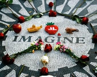 "SALE* Beatles ""Imagine"" 20' x 30' Photo Poster - Strawberry Fields, Central Park - John Lennon Tribute Wall Art"