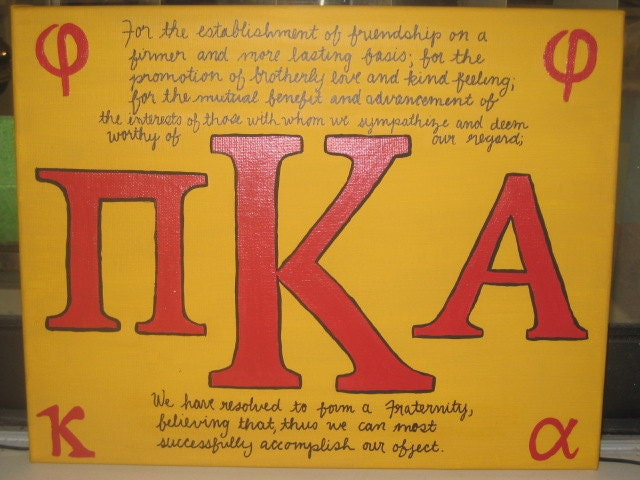 Pike Fraternity Letters Textpoems